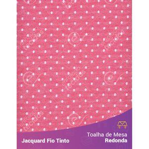 Toalha-Redonda-em-Tecido-Jacquard-Vermelho-e-Branco-Poa-Fio-Tinto