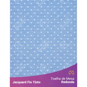 Toalha-Redonda-em-Tecido-Jacquard-Azul-Bebe-e-Branco-Poa-Fio-Tinto