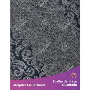 Toalha-Quadrada-em-Tecido-Jacquard-Fio-Brilhante-Cinza-Arabesco
