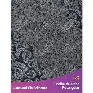 Toalha-Retangular-em-Tecido-Jacquard-Fio-Brilhante-Cinza-Arabesco