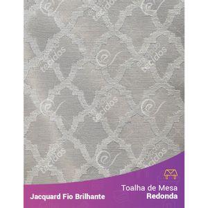 Toalha-Redonda-em-Tecido-Jacquard-Fio-Brilhante-Bege-Geometrico
