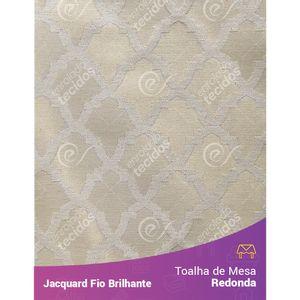 Toalha-Redonda-em-Tecido-Jacquard-Fio-Brilhante-Dourado-Geometrico