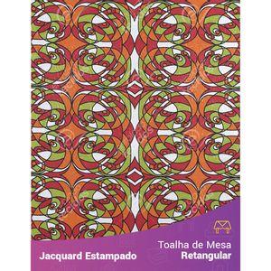 Toalha-de-Mesa-Retangular-em-Tecido-Jacquard-Estampado-Abstrato-Laranja