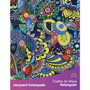 Toalha-de-Mesa-Retangular-em-Tecido-Jacquard-Estampado-Abstrato-Floral-Fundo-Cinza