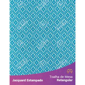 Toalha-de-Mesa-Retangular-em-Tecido-Jacquard-Estampado-Arabesco-Azul-Turquesa