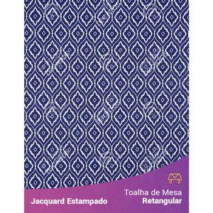 Toalha-de-Mesa-Retangular-em-Tecido-Jacquard-Estampado-Arabesco-Azul-Marinho