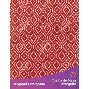 Toalha-de-Mesa-Retangular-em-Tecido-Jacquard-Estampado-Arabesco-Vermelho-Alaranjado