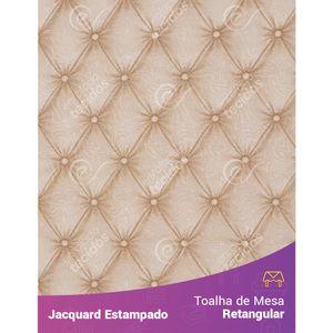 Toalha-de-Mesa-Retangular-em-Tecido-Jacquard-Estampado-Capitone-Bege