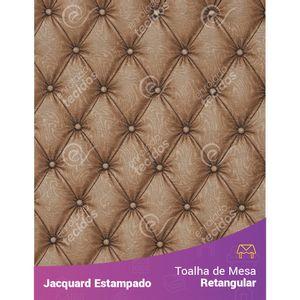 Toalha-de-Mesa-Retangular-em-Tecido-Jacquard-Estampado-Capitone-Marrom