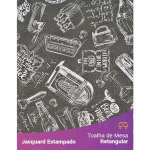 Toalha-de-Mesa-Retangular-em-Tecido-Jacquard-Estampado-Vintage-Cinza