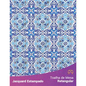 Toalha-de-Mesa-Retangular-em-Tecido-Jacquard-Estampado-Azulejo-Portugues-Azul