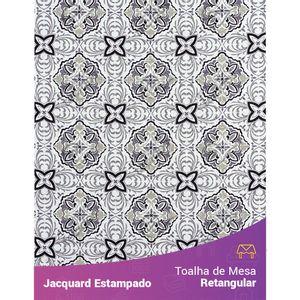 Toalha-de-Mesa-Retangular-em-Tecido-Jacquard-Estampado-Azulejo-Portugues-Cinza