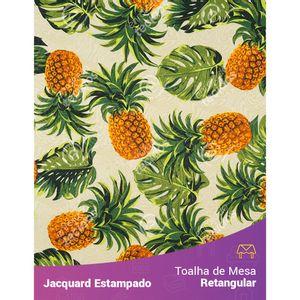 Toalha-de-Mesa-Retangular-em-Tecido-Jacquard-Estampado-Abacaxi-Amarelo