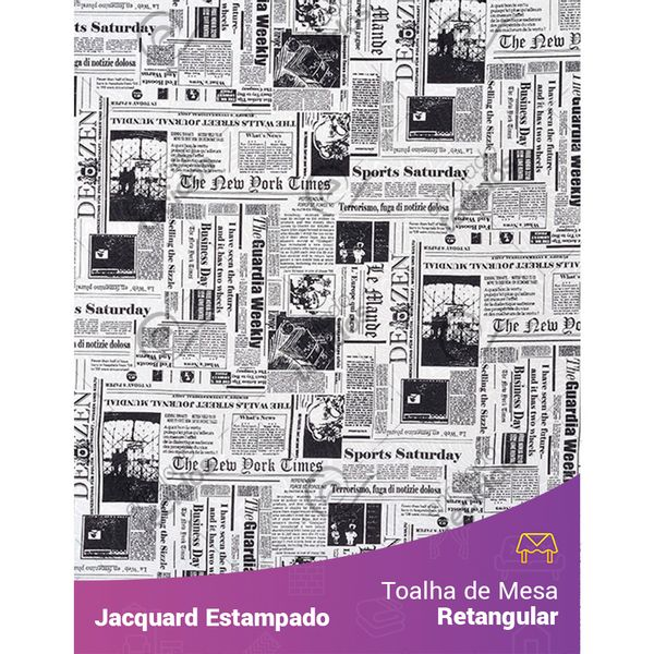 Toalha-de-Mesa-Retangular-em-Tecido-Jacquard-Estampado-Jornal