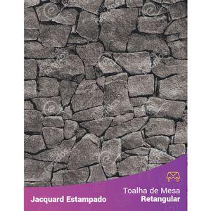 Toalha-de-Mesa-Retangular-em-Tecido-Jacquard-Estampado-Pedra-Cinza