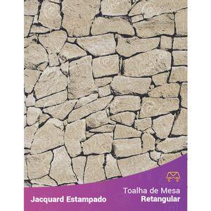 Toalha-de-Mesa-Retangular-em-Tecido-Jacquard-Estampado-Pedra-Bege