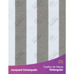 Toalha-de-Mesa-Retangular-em-Tecido-Jacquard-Estampado-Listrado-Cinza-e-Branco
