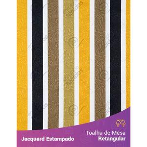 Toalha-de-Mesa-Retangular-em-Tecido-Jacquard-Estampado-Listrado-Amarelo-e-Preto