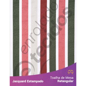 Toalha-de-Mesa-Retangular-em-Tecido-Jacquard-Estampado-Listrado-Rosa-e-Verde
