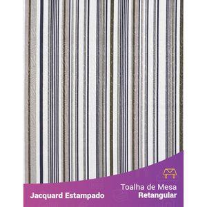 Toalha-de-Mesa-Retangular-em-Tecido-Jacquard-Estampado-Listrado-Cinza-e-Verde