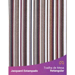 Toalha-de-Mesa-Retangular-em-Tecido-Jacquard-Estampado-Listrado-Marsala