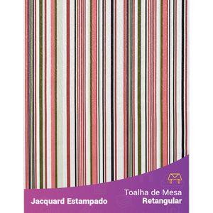 Toalha-de-Mesa-Retangular-em-Tecido-Jacquard-Estampado-Listrado-Terracota