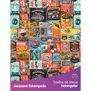 Toalha-de-Mesa-Retangular-em-Tecido-Jacquard-Estampado-Automotivo-Garagem-Retro-Colorido