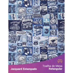 Toalha-de-Mesa-Retangular-em-Tecido-Jacquard-Estampado-Automotivo-Garagem-Retro-Azul