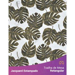 Toalha-de-Mesa-Retangular-em-Tecido-Jacquard-Estampado-Floral-Costela-de-Adao-Verde-Musgo