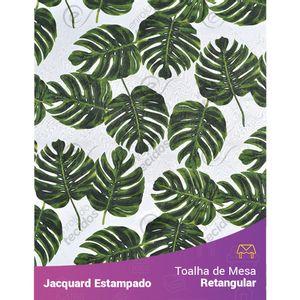 Toalha-de-Mesa-Retangular-em-Tecido-Jacquard-Estampado-Floral-Costela-de-Adao-Verde