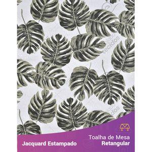 Toalha-de-Mesa-Retangular-em-Tecido-Jacquard-Estampado-Floral-Costela-de-Adao-Bege