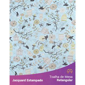 Toalha-de-Mesa-Retangular-em-Tecido-Jacquard-Estampado-Passarinho-Azul