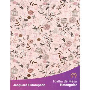 Toalha-de-Mesa-Retangular-em-Tecido-Jacquard-Estampado-Passarinho-Rosa