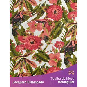 Toalha-de-Mesa-Retangular-em-Tecido-Jacquard-Estampado-Tucano-Vermelho
