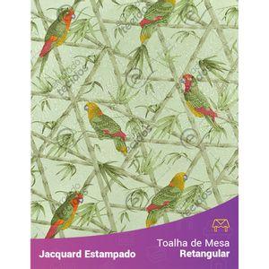 Toalha-de-Mesa-Retangular-em-Tecido-Jacquard-Estampado-Floral-Papagaio-Verde