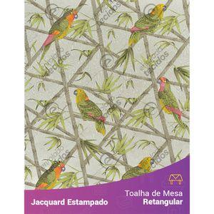 Toalha-de-Mesa-Retangular-em-Tecido-Jacquard-Estampado-Floral-Papagaio-Cinza