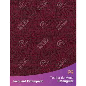 Toalha-de-Mesa-Retangular-em-Tecido-Jacquard-Estampado-Liso-Vinho-Marsala