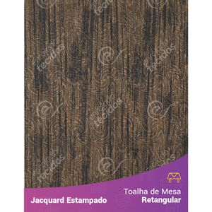 Toalha-de-Mesa-Retangular-em-Tecido-Jacquard-Estampado-Liso-Marrom-e-Preto