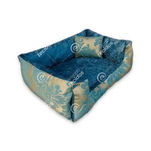 caminha-pet-luxo-jacquard-azul-dourado-medalhao