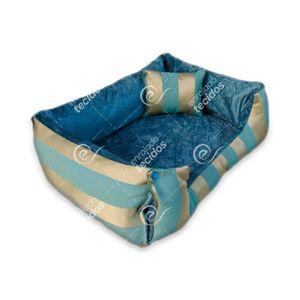 caminha-pet-luxo-jacquard-azul-dourado-listrado