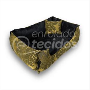 caminha-pet-luxo-jacquard-preto-dourado-medalhao