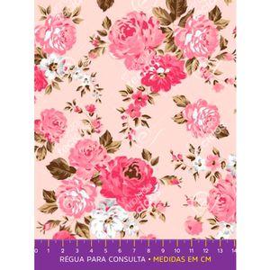 tecido-tricoline-floral-rosa-fundo-rosa