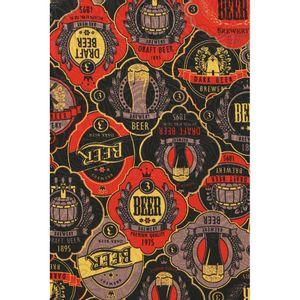 tecido-jacquard-estampado-boteco-preto-e-vermelho