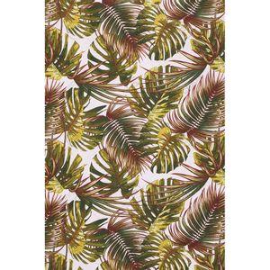tecido-jacquard-estampado-tropical-folhagem-verde-e-vermelho