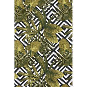tecido-jacquard-estampado-tropical-verde-musgo-geometrico