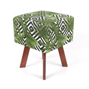 puff-em-tecido-jacquard-estampado-tropical-folhagem-verde