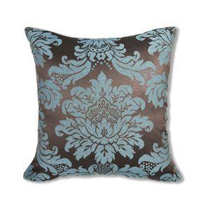 almofada-tecido-jacquard-marrom-e-turquesa-medalhao-tradicional