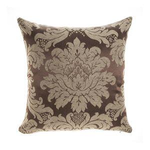 almofada-tecido-jacquard-marrom-e-bege-medalhao-tradicional