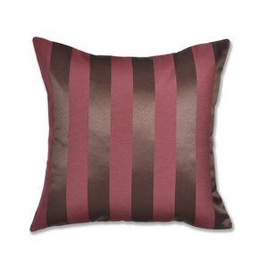 almofada-tecido-jacquard-marrom-e-vermelho-listrado-tradicional