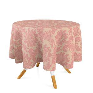 toalha-redonda-tecido-jacquard-rosa-envelhecido-e-dourado-medalhao-tradicional